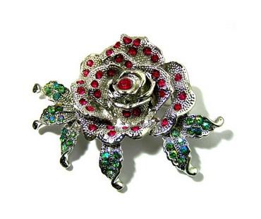 Kleiderbrosche - Rose