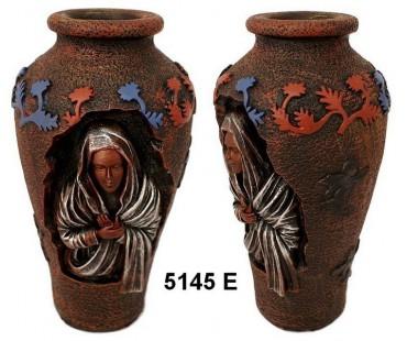 Vase mit Heiligenbildnis - Mutter Gottes 5145E
