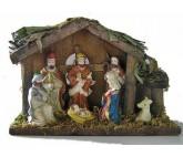 Weihnachtskrippe, - Heiligen Familie mit Jesuskind im Stall-525760