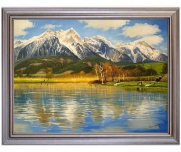 Saalfedner Angelteich - handgemaltes Ölbild in 50x70cm