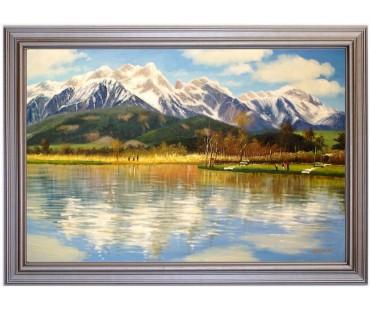 Saalfedner Angelteich - handgemaltes Ölbild in 50x80cm