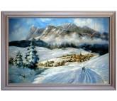 Cortina dampezzo - handgemaltes Ölbild in 80x120cm