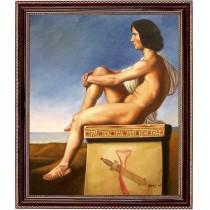 Flandrin Hippolyte Jean - Polites Sohn  - handgemaltes Ölbild in 50x60cm