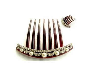 Haarkamm - Perlenkrone