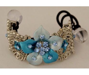Haargummi - Lilie in Blau