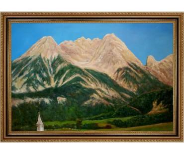 Saalfelden am Steinerne Meer - handgemaltes Ölbild in 60x90cm