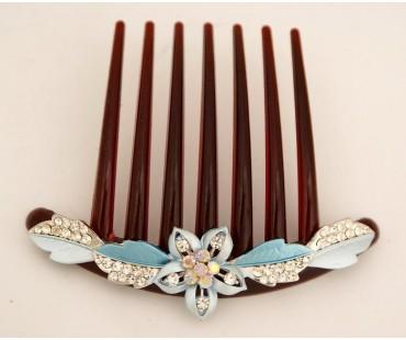Haarkamm - Kirschblüte-Blau