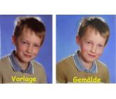 Ölgemälde nach Foto in der Größe 50x60cm  - Beispiel Schrebergarten in Saalfelden