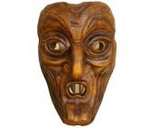 Kindermaske Krampusmaske Wandmaske aus Holz_SBG6