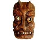 Kindermaske Krampusmaske Wandmaske aus Holz
