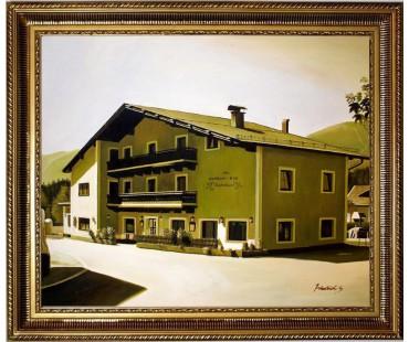 Kramerwirt -jetziger Winkelhof in Saalfelden am Steineren Meer HANDGEMALT 50x60cm