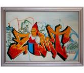 Graffiti Zellasi Streetart Ölbild - 60x90cm