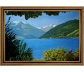 Ölbild Zell am See mit Kitzsteinhorn Landschaft Ölgemälde HANDGEMALT 60x90cm