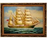 Segelschiff - Seeschlacht Ölbild - 60x90cm
