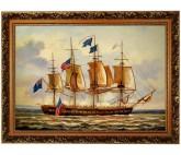 Segelschiff - Seeschlacht Seegefecht Ölmalerei Ölbild - 60x90cm