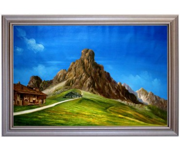 Passo Giau Gusela - handgemaltes Ölbild in 70x110cm
