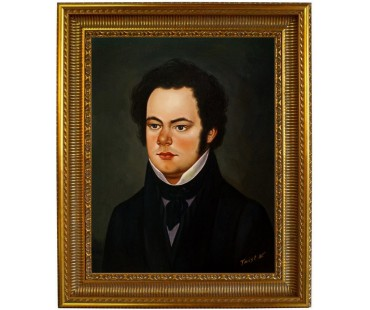 Franz Schubert Portrait - handgemaltes Ölbild in 50x60cm
