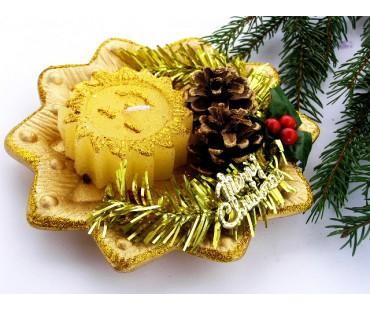 Weihnachtskerze - Sternkerze