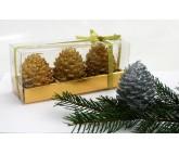 Weihnachtskerze - Zapfenkerze