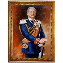Kaiser Wilhelm II in Uniform - hochwertiges handgemaltes Ölgemälde auf Leinwand - handgemaltes Ölbild in 50x60cm