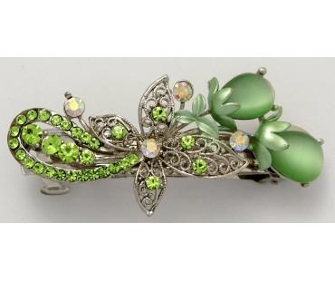 Haarspange - Tulpen Grün
