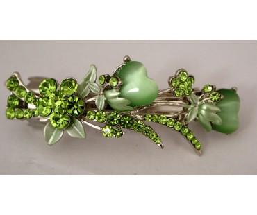 Haarspange - Tulpenstrauß Grün