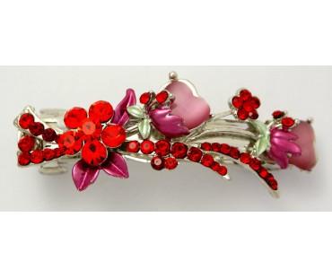Haarspange - Tulpenstrauß Rot